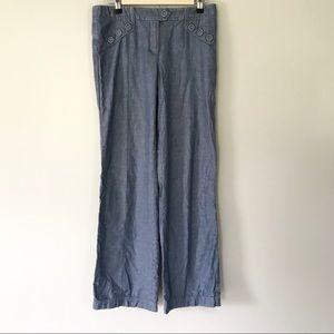 Anthropologie Elevenses Wide Leg Denim Jeans Pants